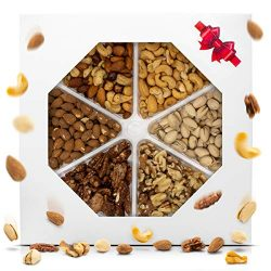 Holiday Nuts Gift Basket Delicious Variety Mixed Nuts Large 6-Selection Prime Gift Christmas, Mo ...