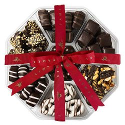Fancy Holiday Chocolate Gift Box – Assortment of Gourmet Chocolates, I.75 pound