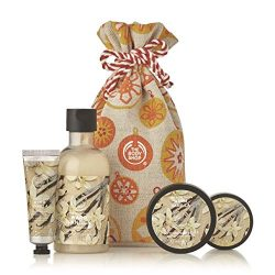 The Body Shop Warm Vanilla Gift Sack, Exclusive Holiday Scent, Made With Community Trade Shea Bu ...