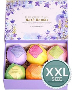 LuxSpa Bath Bombs Gift Set – The Best Ultra Lush Natural Bubble Fizzies With Dead Sea Salt ...