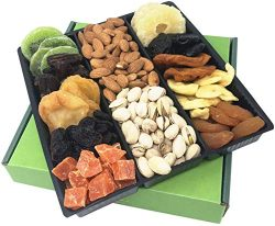 Holiday Nut and Dried Fruit Gift Basket by Coco's. Savory & Healthy Gourmet Mixed Nuts ...