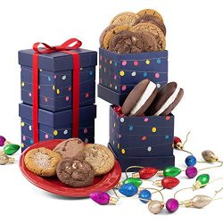 Festive Lights Holiday Gift Tower of Cookies, Brownie, and Whoopie Pies