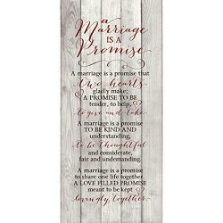 Marriage Promise Wood Plaque Inspiring Quote – Classy Vertical Frame Wall Hanging Decorati ...