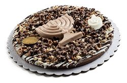 Happy Hanukkah Premium Fresh Praline Chocolate Gift Pie With Decorative Hanukkah Themed Toppings ...