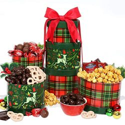 GreatArrivals Gift Baskets Gift Baskets Reindeer Treats: Holiday Gift Tower,, ()