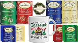 Twinings Holiday Variety Tea Bag Gift Sampler Pack, Peppermint Cheer, Holiday Berry, Christmas T ...
