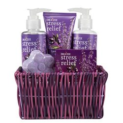 Draizee Spa Luxurious Home Relaxation Lovely Fragrance Gift Bag for Woman (Lavender and Grape, 5 ...