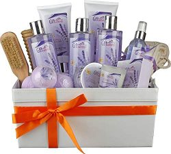 Extra Large Vanilla Lavender Spa Basket, Best For Women and Girls As a Birthday/Christmas/Annive ...