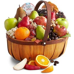 Golden State Fruit Organic Harvest Fruit, Sweets & Snacks Gift Basket