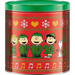 GiftPop Peanuts Ugly Sweater Merry Christmas Popcorn Tin with 3 Assorted Flavors Caramel, White  ...