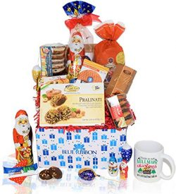 Christmas Chocolate & Snacks Variety Gift Care Package Basket – Truffles, Cookies, San ...