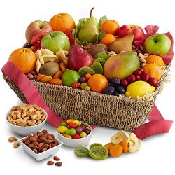 Fresh From The Harvest Fruit, Nut & Chocolate Basket
