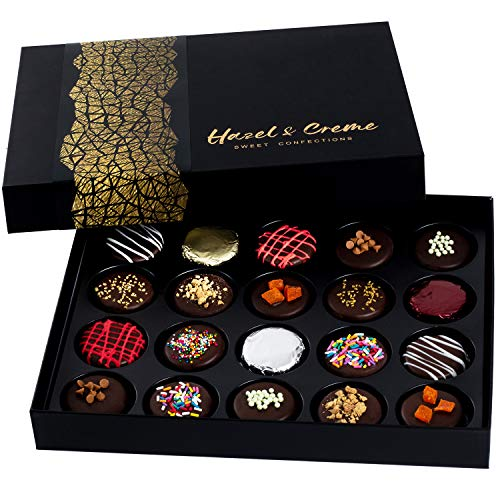 Hazel & Creme Chocolate Gift Boxes – Chocolate Covered Cookies – Holiday Chocola ...