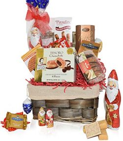 Christmas Basket – Santa, Chocolate, Truffles, Gourmet, Food, Holiday Gift Variety Care Pa ...