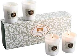 Anjou Scented Candle 4 Pack Gift Set, Includes Pear Freesia, BlackBerry Bay, Orange Peppermint,  ...