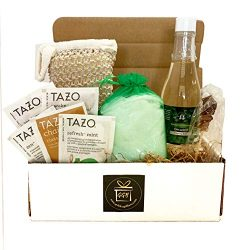 Golden Gift Box- 9 Pieces Luxury Spa Gift Baskets for Women -Vanilla, Lavender or Eucalyptus Spe ...