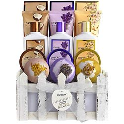 Christmas Home Spa Gift Baskets For Women & Men – 16 Piece Set of Coconut, Lavender Ja ...