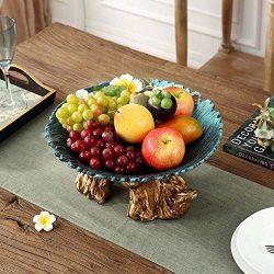 MQW Villa Modern Home Decoration Ornaments Handmade Ceramic Plate Put Fruit Plate Fruit Basket G ...