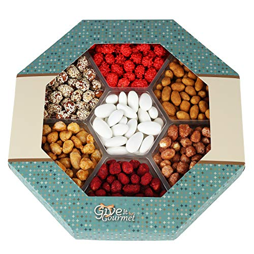 GIVE IT GOURMET, Holiday Nuts Gift Basket, Peanut Variety, Holiday Delightful Gourmet Food, perf ...