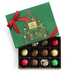 Godiva Chocolatier Assorted Chocolate Truffles Gift Box, Holiday Collection, Limited Edition, 12 ...