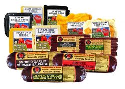 Wisconsin's Best and Wisconsin Cheese Company, Deluxe Sticks, Sausage and Cheese, Cheese C ...