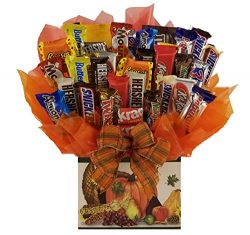 Thanksgiving Chocolate Candy bouquet – Great as a Thanksgiving, Fall Harvest or Autumn gif ...