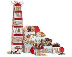 Holiday Colossal Chocolate Mountain Gift Tower Godiva Toblerone Mr. Brownie & More Fill Up S ...