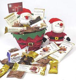 Christmas Godiva Chocolate bars gift basket