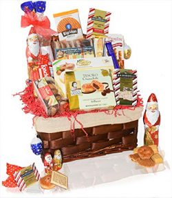 Christmas Gift Holiday Premium Basket – Hot Cocoa, Premium Gift Basket for Family, Friends ...