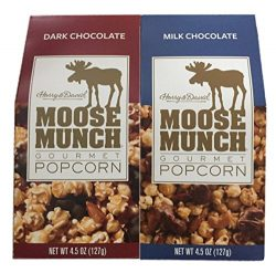 Harry & David Moose Munch Gourmet Popcorn: Dark Chocolate & Milk Chocolate 4.5 oz Packag ...