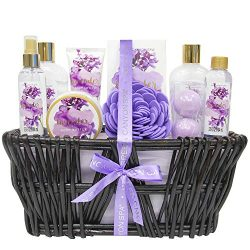 Green Canyon Spa Lavender Spa Gift Baskets for Women, Christmas / Birthday Gift Ideas 10 Pcs Spa ...