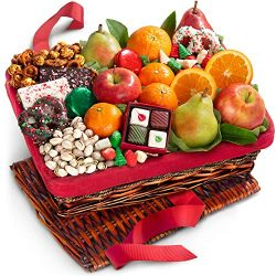 Tis the Season Fruit, Sweets & Nuts Holiday Christmas Gift Basket