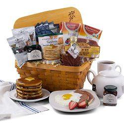 2019 Christmas Breakfast Holiday Gift Basket of Coffee, Tea, Jam, Syrup, Ham, and Pancake Mix