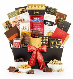 GiftTree The Manhattan Thinking of You Gourmet Gift Basket | Godiva, Moonstruck, Lindt & Ghi ...