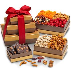 Treasure Trove Gift Tower – Gourmet Food for Holiday, Corporate Gifting