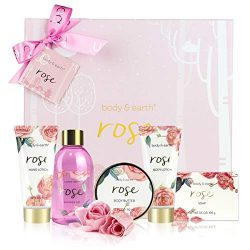 Bath Spa Gift Box for Women – Luxurious 6 Piece Bath and Body Set Includes Bubble Bath, Bo ...