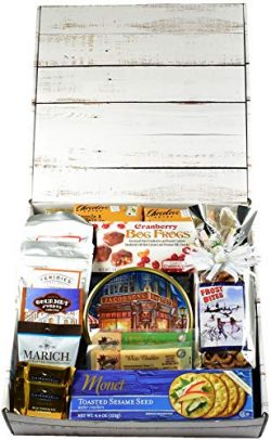 Frost Bites Care Package, Designer Gift Box – Celebrate Hanukkah with Themed Snack Mix, Me ...