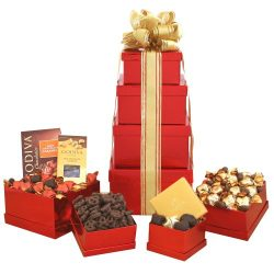 California Delicious Gift Tower Containing Godiva Chocolate