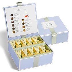 Tea Forte Organic Dessert Tea Sampler, Tea Chest Gift Box with 40 Handcrafted Pyramid Tea Infuse ...