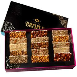 NY Original Brittle Christmas Candy Nuts Gift Basket, 8 Variety Gourmet Holiday Treats Mixed Nut ...