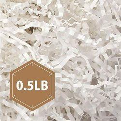 PACKHOME 0.5 LB Crinkle Cut Paper Shredded Paper Shred Filler, Premium Quality for Gift Packing  ...