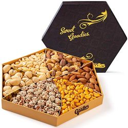 Nuts Gift Basket, Gourmet Food Nuts Tray, Holiday Nut Snack Gift Set, Great for Christmas, Thank ...
