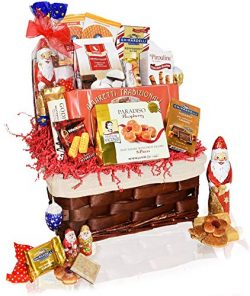 Christmas Gift Food Baskets Chocolate, Santa, Cookies, Candy, Waffles – Perfect Care Packa ...
