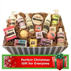 Spa Gift Baskets for Women | Gluten-Free Vegan 16 Piece Set Includes Organic Body Bars, Hand Soa ...