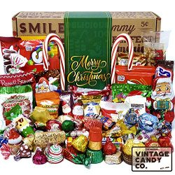CHRISTMAS CANDY CARE PACKAGE LOADED XMAS GIFT BOX Filled With Milk Chocolate Santas, Snowman, Tr ...