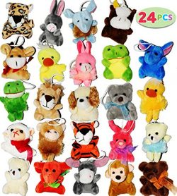 Joyin Toy 24 Pack of Mini Animal Plush Toy Assortment (24 units 3″ each) Kids Party Favors
