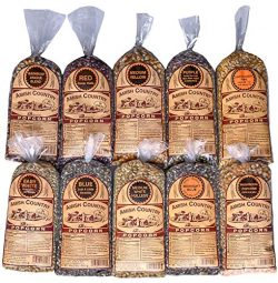 Amish Country Popcorn – 10 (1 Lb Bag) Variety Gift Set Bundle with Recipe Guide (Red, Blue ...