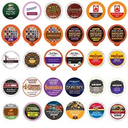 Perfect Samplers Coffee Pod Variety Pack, Dark Roast and Bold Flavors, Single Serve Cups for Keu ...