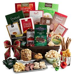 2019 Christmas Gift Basket of Gourmet Holiday Foods – Holiday Gift Basket of Chocolates, C ...