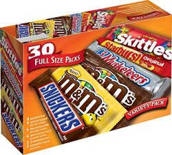 M&M'S, SNICKERS, 3 MUSKETEERS, SKITTLES & STARBURST Full Size Chocolate Candy Vari ...